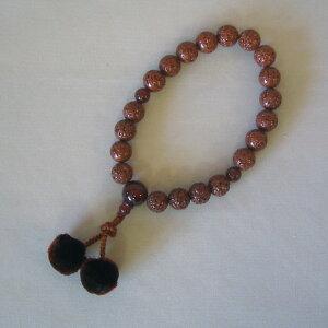 男性用数珠・金剛菩提珠(20玉)めのう入り正絹紐房【桐箱入り】
