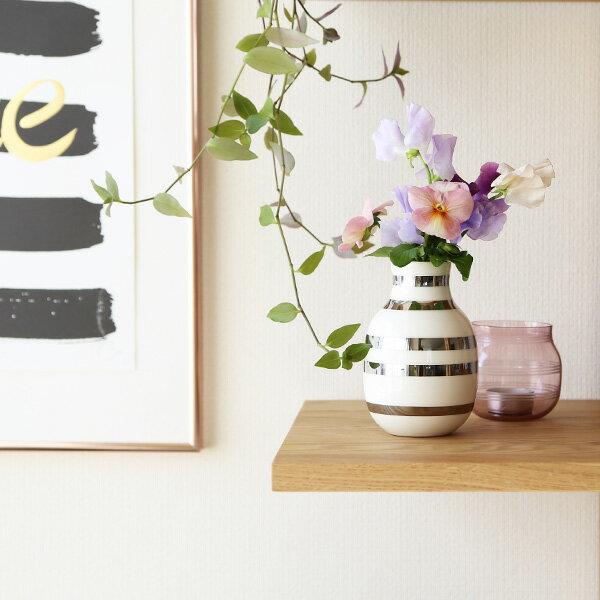 Kahler (ケーラー) オマジオ フラワーベース スモール シルバー 花瓶 陶器 日本正規代理店品