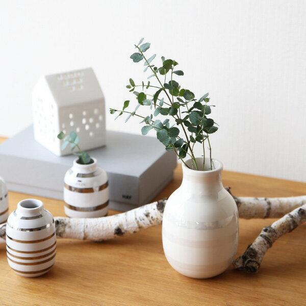 Kahler (ケーラー) オマジオ フラワーベース スモールS(H12.5)パール 花瓶 陶器 日本正規代理店品