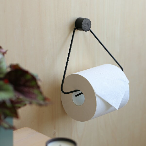 ferm LIVING (ファームリビング) Toilet Paper Holder (トイレットペーパーホルダー) ブラック 北欧/インテリア/日本正規代理店品