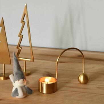ferm LIVING (ファームリビング) Balance(バランス)ティーライトホルダーブラック/ブラス/シルバー北欧/インテリア/クリスマス/日本正規代理店品
