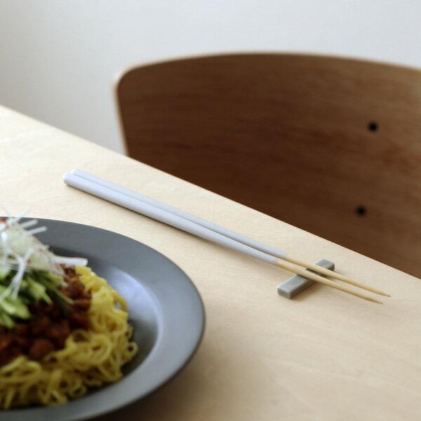STIIK (スティック) 箸/はし(2膳入り) セラミックグレー カトラリーのような箸/一年箸/竹製【メール便】