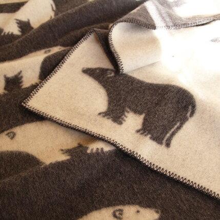 (rorosロロス)ブランケットアイスビヨングレーナチュラル(blanketisbjorngray/natural)【北欧雑貨】kzxeu7t