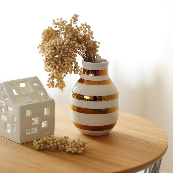 Kahler(ケーラー) 175周年記念 Omaggio Anniversary Vaseオマジオ アニバーサリーベースS ブラス 花瓶 陶器 日本正規代理店品