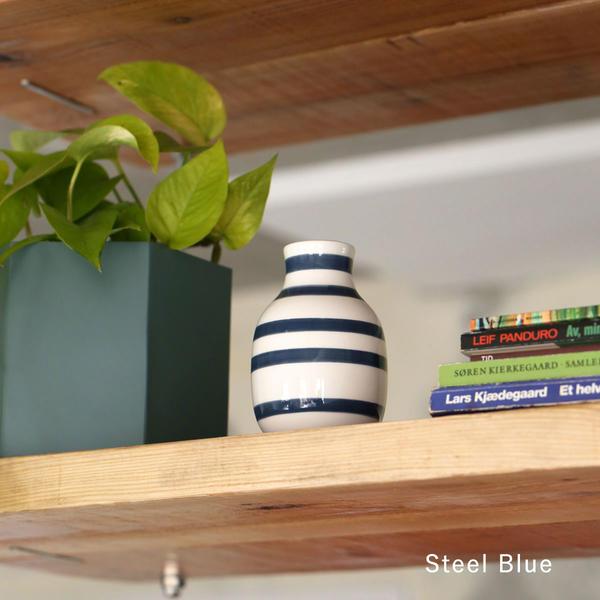 Kahler (ケーラー) オマジオ フラワーベース スモール ブラック/スチールブルー 花瓶 陶器 日本正規代理店品