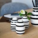 Kahler (ケーラー) オマジオ フラワーベース ミニ 3個セット ブラック 花瓶 陶器 日本正規代理店品