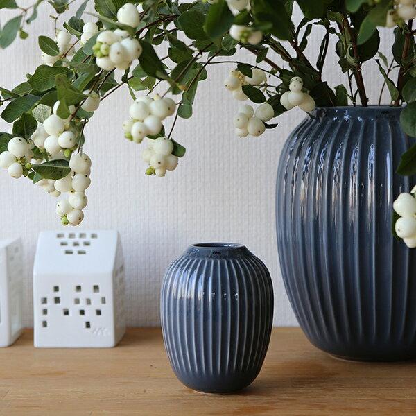 Kahler (ケーラー) ハンマースホイ フラワーベース ミニ ダークグレー 花瓶 陶器 日本正規代理店品