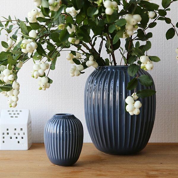 Kahler (ケーラー) ハンマースホイ フラワーベース Mサイズ ダークグレー 花瓶 陶器 日本正規代理店品