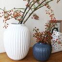 Kahler (ケーラー) ハンマースホイ フラワーベース Lサイズ ホワイト 花瓶 陶器 日本正規代理店品