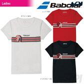 『即日出荷』「2017新製品」Babolat(バボラ)「Women's レディース ショートスリーブシャツ BAB-8734W」テニスウェア「2017SS」「あす楽対応」