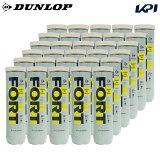 【全品10%OFFクーポン】DUNLOP(ダンロップ)「FORT(フォート)[4個入]1箱(30缶/120球)」テニスボール