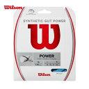 「あす楽対応」ウイルソン Wilson テニスガット・ストリング SYNTHETIC GUT POWER 16 BLUE シンセティックガット パワー 16 WR830130116 『即日出荷』 1