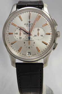 ZENITH Captain chronograph SV leather 03.2110.400/01.C498