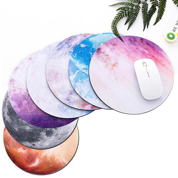 メール便 マウスパッドおしゃれ北欧かわいい月地球惑星プラネット天体観測宇宙パソコンマウス丸型ライトレーザー&光学式マウス対応さ