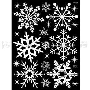 ウォールステッカー クリスマス・雪・結晶 Vol4 送料無料 お試し 500円 ポッキリ (ディズニー 欧米 木 スイッチ 身長計 アルファベット 猫 窓 時計 トイレ 壁に貼る はがせる 壁紙 壁シール 壁ステッカー)