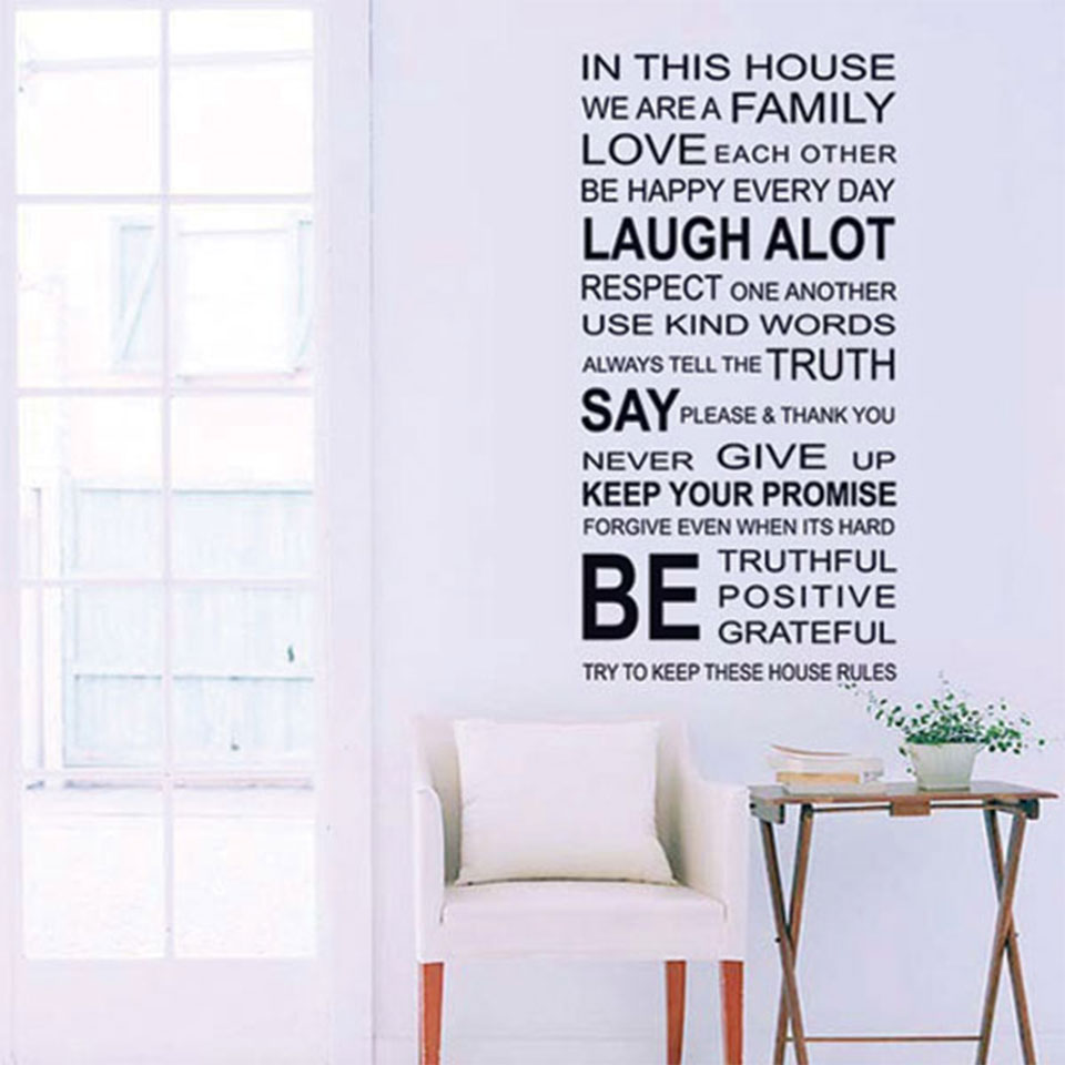 ウォールステッカー 子供 英字 英文(IN THIS HOUSE ウォールステッカー 北欧 トイレ アルファベット 英字 壁紙 はがせる 壁シール シールタイプ DIY ウォールデコシート 壁紙シール リメイクシート インテリアシート カッティングシート