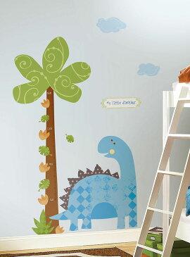 ウォールステッカー かわいい 身長計 恐竜 ビッグサイズ [ベビーザウルス(グロースチャート)] ルームメイツ RoomMates 不透明 北欧 シンプル シール のり付き 壁紙シール リビング 子供部屋 保育園 幼稚園 Babysaurus