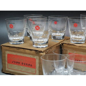 0165 Noritake Crystal Shot Glass Set of 6 Showa / Glass / Miscellaneous Goods / Cup / [Used] Vintage / Old Folk House / Old Folk Gear / Antique /