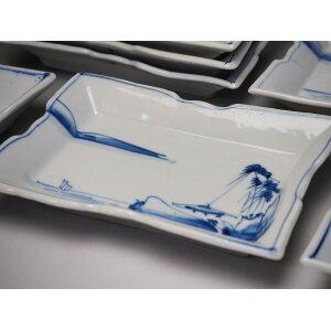 0139 Sansui Pattern Deformation Dye Dyeing / Era Meiji / Antiguo pintado a mano / Antiguo / [Usado] / Antigua casa popular / Herramientas populares antiguas Seto / Cerámica / Vajilla * El precio de venta es de una pieza.