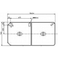 【TOTO】把手付き組み合わせ式ふろふた2枚PCF1650Rサイズ1540×760風呂蓋質量3.7kg受注生産品