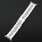 アップルウォッチ全面フルCZダイヤカスタムベルト18KGOLD/WHITEGOLD全シリーズ対応モデル腕時