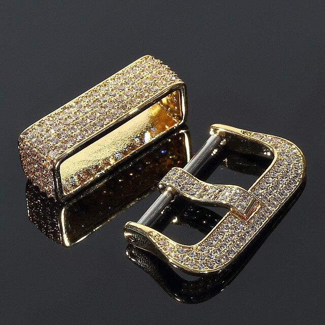 G-SHOCK 【カスタムバックル+美錠セット】 DW6900 BABY-G GSTシリーズ W100 W110 410 W300 W310 対応 GOLD