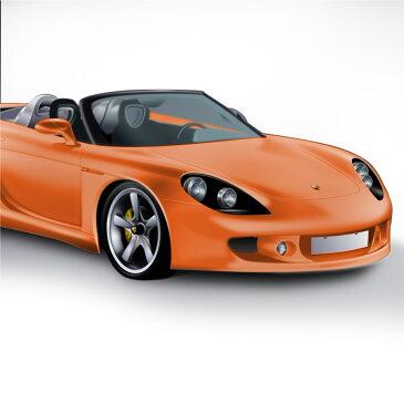 カーラッピングシート カーボディ ラッピング マット オレンジ カーラッピング フィルム 152cm×100cm 橙 艶なし オレンジ 車 _41111