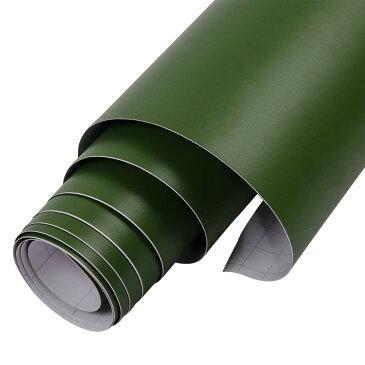 カーラッピングシート マットグリーン 152cm×100cm 深緑 艶なし カーフィルム カーラッピング 車 カスタム パーツ _41133