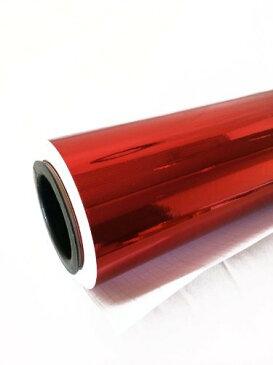 カーラッピングシート カーボディ ラッピング メッキ レッド カーラッピング フィルム 152cm×100cm 赤 レッド メッキ 車 _41165