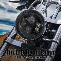 ヘッドライトLED7インチCREE6500K2800lmラウンドタイプブラック12V/24Vハーレーダビッドソン/ジープラングラー/ランドローバー/ジムニーJA系レビューを書いて送料無料/送料無料/送料込み/送料込_52168