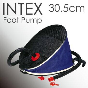 フットポンプ 空気いれ 29センチ INTEX製 大容量ポンプ エアポンプ ブラック ブルー フット式ポンプ ビニールプール 浮き輪 エアーベッド 空気入れ&空気抜き _85039