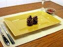 スクエア マスタード 長角皿 31cm [ スクエアプレート 黄色い食器 洋食器 業務用 ]