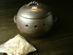 萬古焼 みすずの家庭用 石焼き芋鍋 丸形小 [ 日本製 石焼き芋土鍋 調理器 ] 05P19Dec15