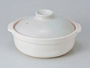 [日本製]洋風な土鍋。宴6号土鍋 白 [直火用][一人用] 10P10Jan15