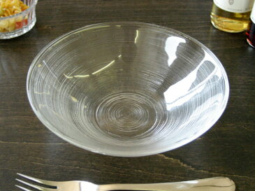 細溝ラインがお洒落なガラス食器イマージュ ボウル 16.5cm [ ボール 中鉢 ]