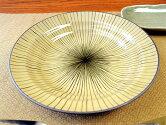 和食器三ツ輪6.5深皿黄十草[丸皿取皿][価格別食器市]