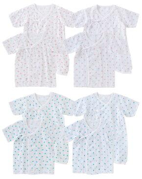 出産準備・御祝・検診に 新生児肌着 4セットコンビ肌着 短肌着 下着50cm〜60cm