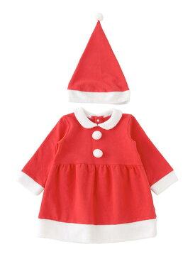 サンタコスプレ ワンピース帽子付き 80cm90cm ハロウィーン仮装 女の子