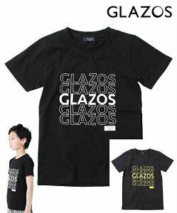 30%OFF SALE GLAZOS(グラソス)天竺 抜きロゴプリント半袖Tシャツ 150cm160cm170cm 男の子 ジュニア ナルミヤ