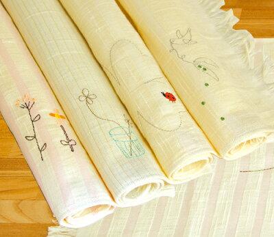 刺繍ランチョンマット