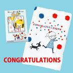【Shinzi Katoh】Greeting グリーティング【Congratulations/おめでとう】フェイスタオル スーピマコットン ギフトボックス付 Shinzi Katoh シンジカトウ 約34×90cm 【クーポン配布中】