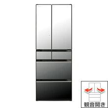(長期無料保証/配送設置無料)日立冷蔵庫R-KX57NXクリスタルミラー観音開き内容量:567リットル