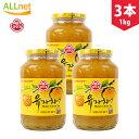 オットギ三和 \3個セット/サンファ 柚子茶 1Kg 韓国食品