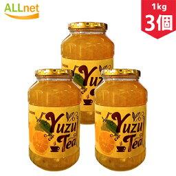 【まとめてお得】【送料無料】ウリ ゆず茶 1kg×3個セット 柚子茶 お茶 韓国お茶 健康茶 ビタミンC入り クエン酸入り