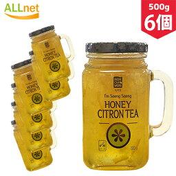 【まとめてお得】【送料無料】緑茶園 はちみつ ゆず茶 ゆず ティー 500g×6個セット 韓国 食品 食材 料理 伝統茶 茶 韓国飲料 ドリンク れもん