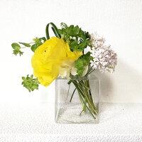 ☆ベルギー製SERAXスクエアフラワーベース四角花瓶インテリアおしゃれスタイリッシュガラス製☆