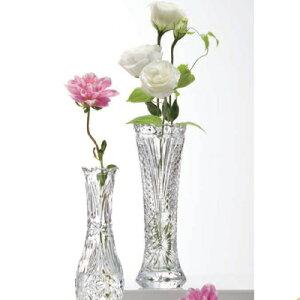 お花を貰ったら花瓶を買おう♪クリスタルガラスフラワーベース センテンス一輪挿し(M) Φ80×H2...