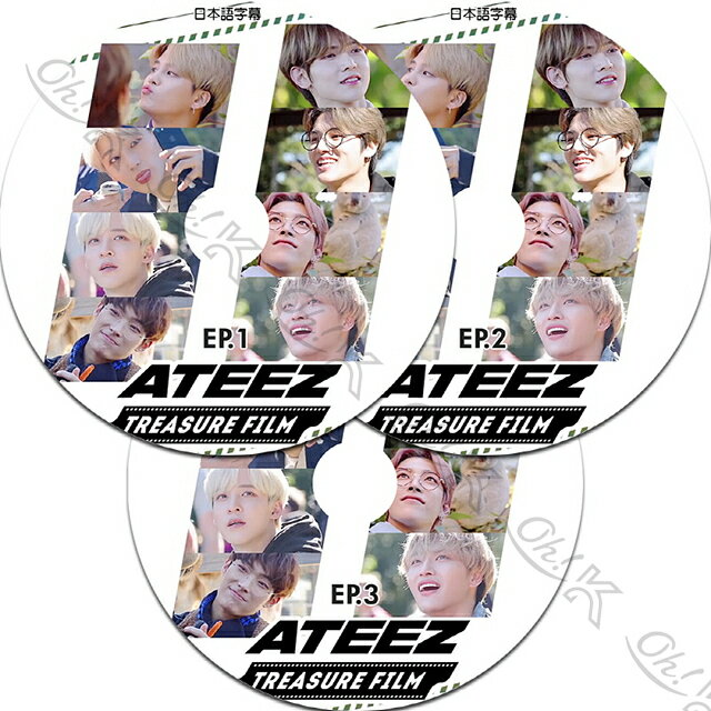 アジア・韓国, 韓国 K-POP DVD ATEEZ TREASURE FILM 3SET (EP1-EP3) ATEEZ DVD ATEEZ KPOP DVD