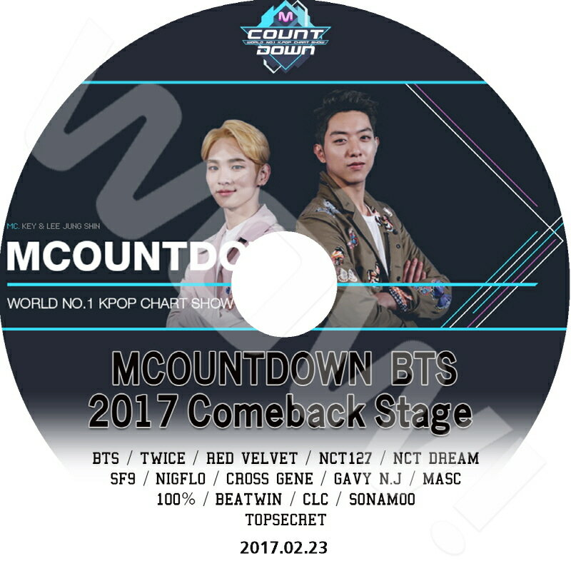 アジア・韓国, 韓国 K-POP DVD M Countdown BTS 2017 COMEBACK SPECIAL (2017.02.23) TWICE RED VELVET NCT127 NCT DREAM SF9 CROSS GENE CLC SONAMOO 100 DVD CON KPOP DVD