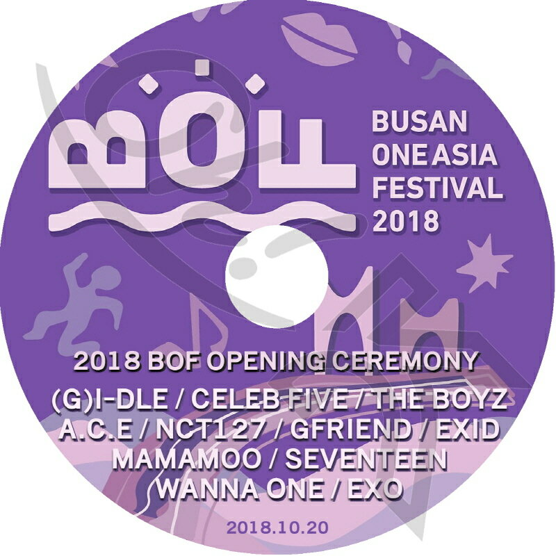 アジア・韓国, 韓国 K-POP DVD 2018 BOF (2018.10.20) EXO WANNA ONE SEVENTEEN NCT127 MAMAMOO GFRIEND THE BOYZ (G)I-DLE EXID CELEB FIVE DVD CON DVD